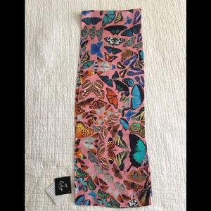 NWT Echo silk oblong scarf w/ butterflies